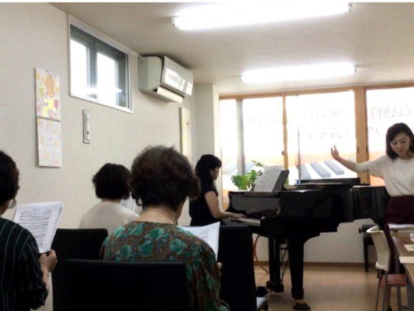フェリーチェピアノ教室のコーラスサークル