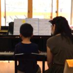 ピアノレッスン開始から1年の8歳くんのレッスン